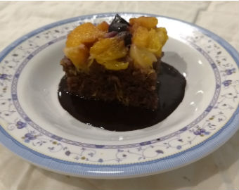 Chocolate Fruit pudding
