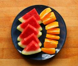 Orange and Watermelon Cocktail