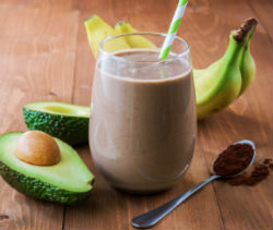 Chocolate Avocado Milk Shake