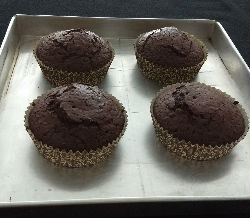 Eggless Choco Orange Cupcakes