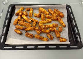 Oven Fried Paneer Sticks